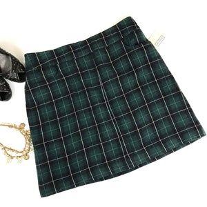 NEW Merona a-line plaid wool blend skirt check